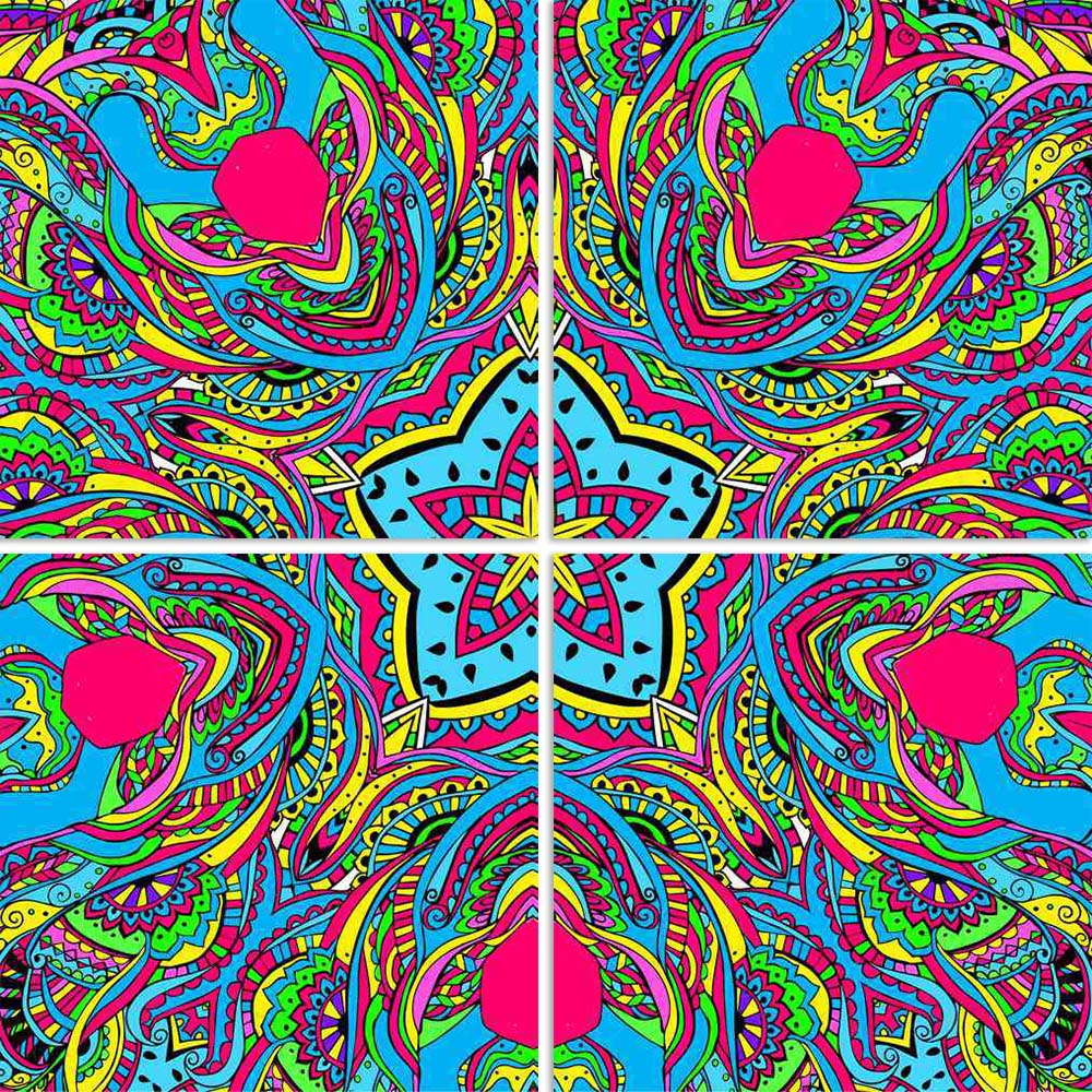ArtzFolio Abstract Psychedelic Traditional Motif Element D4 Split Art Painting Panel on Sunboard-Split Art Panels-AZ5006614SPL_FR_RF_R-0-Image Code 5006614 Vishnu Image Folio Pvt Ltd, IC 5006614, ArtzFolio, Split Art Panels, Abstract, Traditional, Digital Art, psychedelic, motif, element, d4, split, art, painting, panel, on, sunboard, framed, canvas, print, wall, for, living, room, with, frame, poster, pitaara, box, large, size, drawing, big, office, reception, photography, of, kids, designer, decorative, a