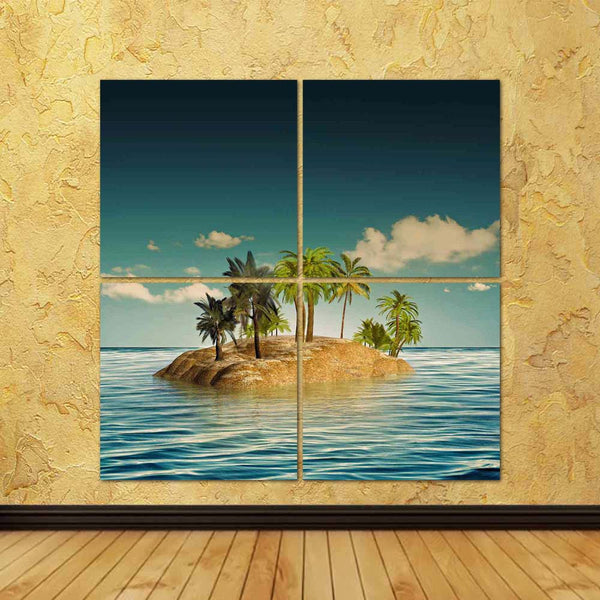 ArtzFolio Abstract Beauty Island in the Sea Split Art Painting Panel on Sunboard-Split Art Panels-AZ5006635SPL_FR_RF_R-0-Image Code 5006635 Vishnu Image Folio Pvt Ltd, IC 5006635, ArtzFolio, Split Art Panels, Landscapes, Digital Art, abstract, beauty, island, in, the, sea, split, art, painting, panel, on, sunboard, framed, canvas, print, wall, for, living, room, with, frame, poster, pitaara, box, large, size, drawing, big, office, reception, photography, of, kids, designer, decorative, amazonbasics, reprint