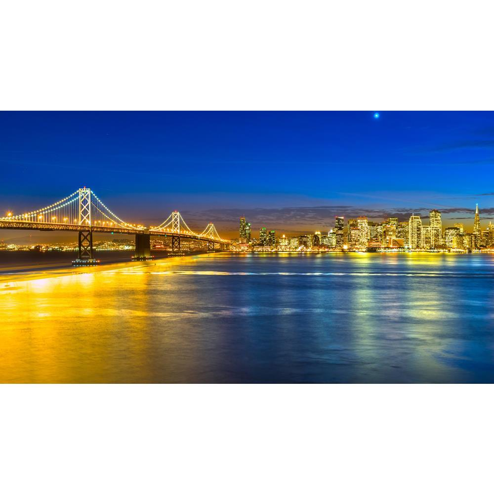 ArtzFolio San Francisco Skyline At Night, California, USA Unframed Premium Canvas Painting-Paintings Unframed Premium-AZ5006672ART_UN_RF_R-0-Image Code 5006672 Vishnu Image Folio Pvt Ltd, IC 5006672, ArtzFolio, Paintings Unframed Premium, Landscapes, Places, Photography, san, francisco, skyline, at, night, california, usa, unframed, premium, canvas, painting, large, size, print, wall, for, living, room, without, frame, decorative, poster, art, pitaara, box, drawing, amazonbasics, big, kids, designer, office