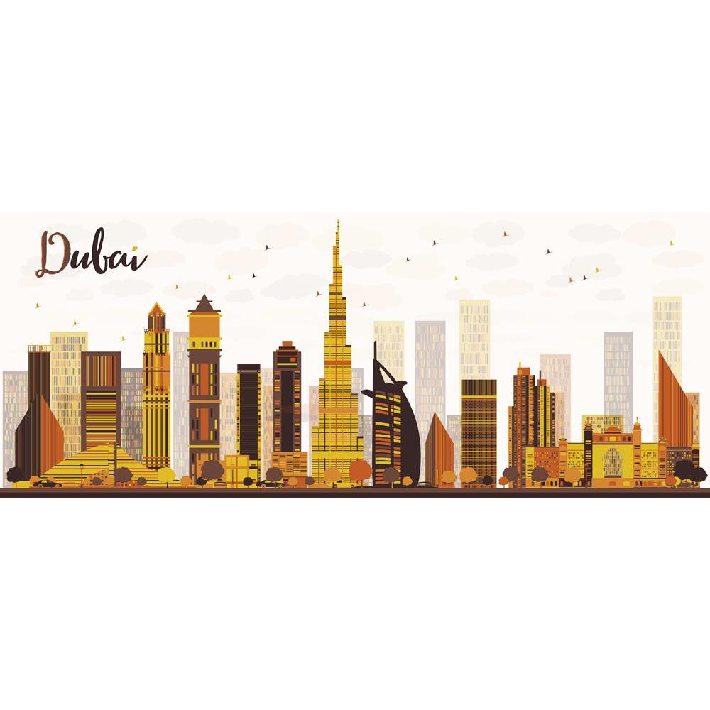 ArtzFolio Dubai, UAE, City Skyline With Golden Skyscrapers Unframed Premium Canvas Painting-Paintings Unframed Premium-AZ5006683ART_UN_RF_R-0-Image Code 5006683 Vishnu Image Folio Pvt Ltd, IC 5006683, ArtzFolio, Paintings Unframed Premium, Places, Digital Art, dubai, uae, city, skyline, with, golden, skyscrapers, unframed, premium, canvas, painting, large, size, print, wall, for, living, room, without, frame, decorative, poster, art, pitaara, box, drawing, photography, amazonbasics, big, kids, designer, off