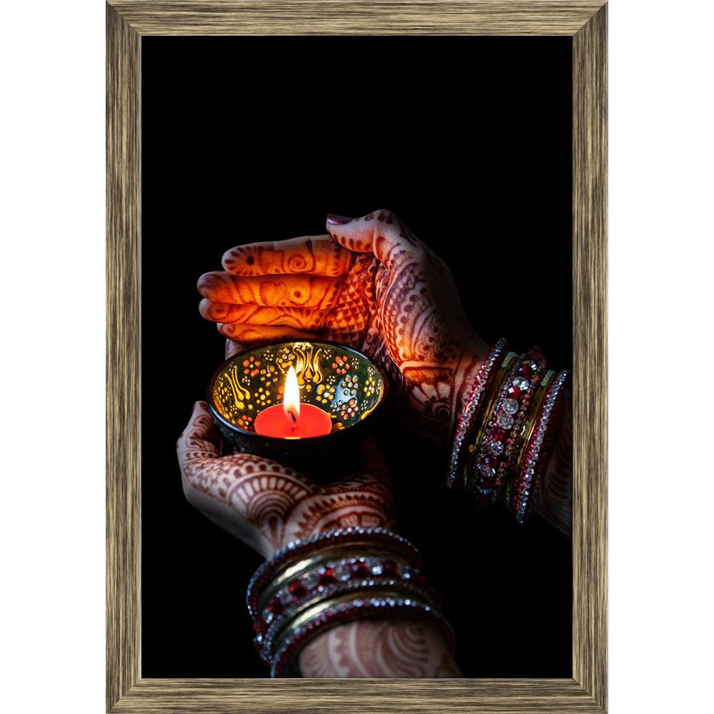 ArtzFolio Woman Hands With Henna Holding Lit Candle Canvas Painting-Paintings Wooden Framing-AZ5006765ART_FR_RF_R-0-Image Code 5006765 Vishnu Image Folio Pvt Ltd, IC 5006765, ArtzFolio, Paintings Wooden Framing, Religious, Traditional, Photography, woman, hands, with, henna, holding, lit, candle, canvas, painting, framed, print, wall, for, living, room, frame, poster, pitaara, box, large, size, drawing, art, split, big, office, reception, of, kids, panel, designer, decorative, amazonbasics, reprint, small,