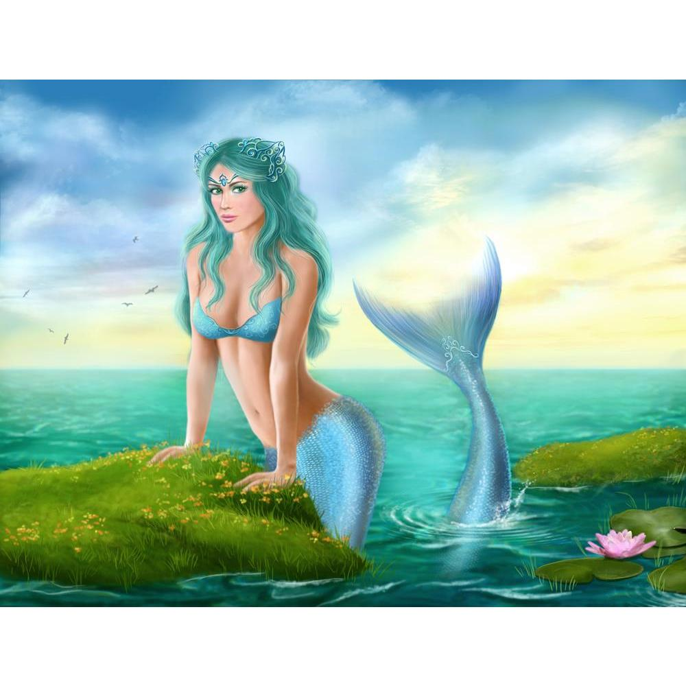 ArtzFolio Fantasy Young Woman Mermaid In Sea Unframed Premium Canvas Painting-Paintings Unframed Premium-AZ5006905ART_UN_RF_R-0-Image Code 5006905 Vishnu Image Folio Pvt Ltd, IC 5006905, ArtzFolio, Paintings Unframed Premium, Fantasy, Figurative, Digital Art, young, woman, mermaid, in, sea, unframed, premium, canvas, painting, large, size, print, wall, for, living, room, without, frame, decorative, poster, art, pitaara, box, drawing, photography, amazonbasics, big, kids, designer, office, reception, reprint