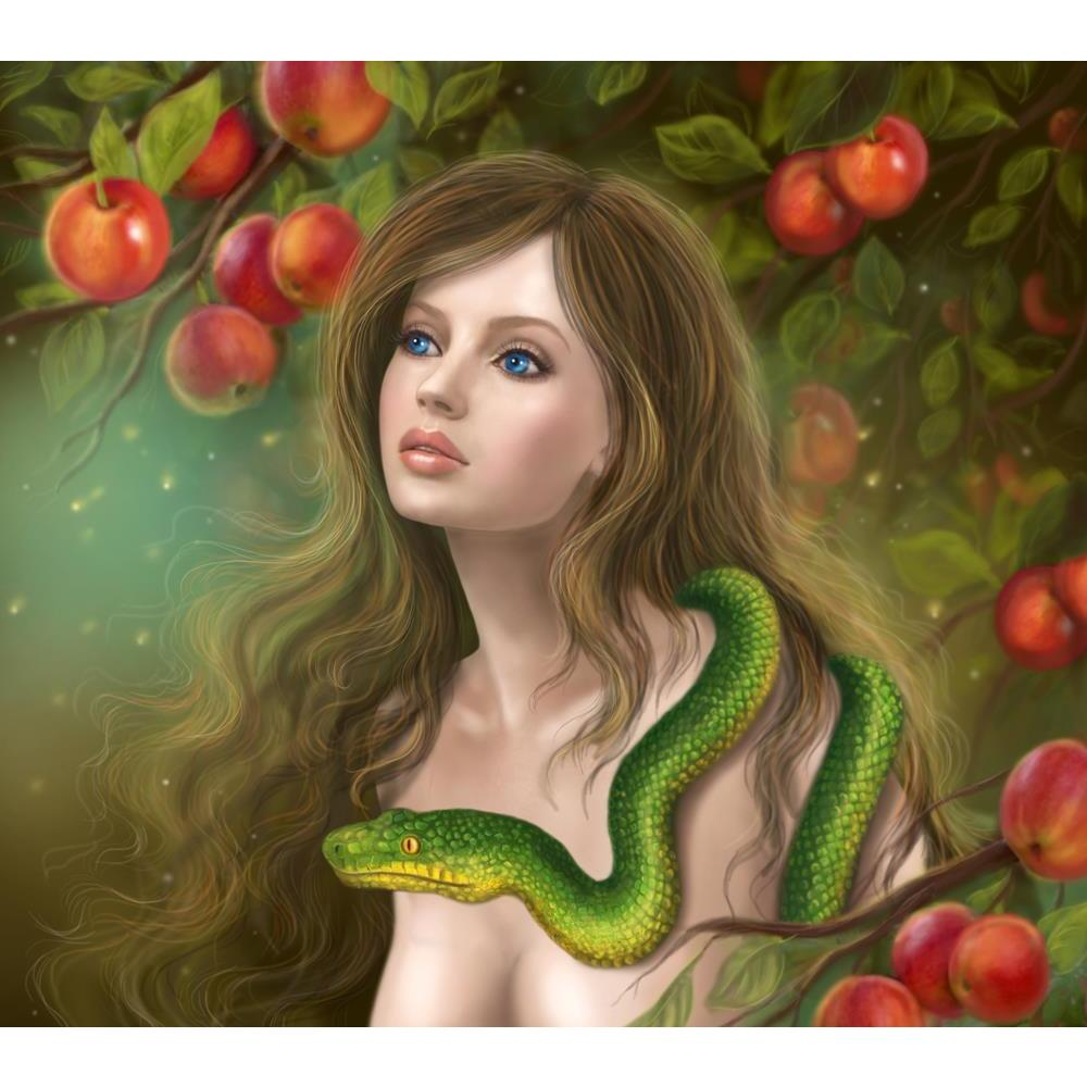 ArtzFolio Young Woman Eve Snake Unframed Premium Canvas Painting-Paintings Unframed Premium-AZ5007056ART_UN_RF_R-0-Image Code 5007056 Vishnu Image Folio Pvt Ltd, IC 5007056, ArtzFolio, Paintings Unframed Premium, Fantasy, Portraits, Digital Art, young, woman, eve, snake, unframed, premium, canvas, painting, large, size, print, wall, for, living, room, without, frame, decorative, poster, art, pitaara, box, drawing, photography, amazonbasics, big, kids, designer, office, reception, reprint, bedroom, panel, pa