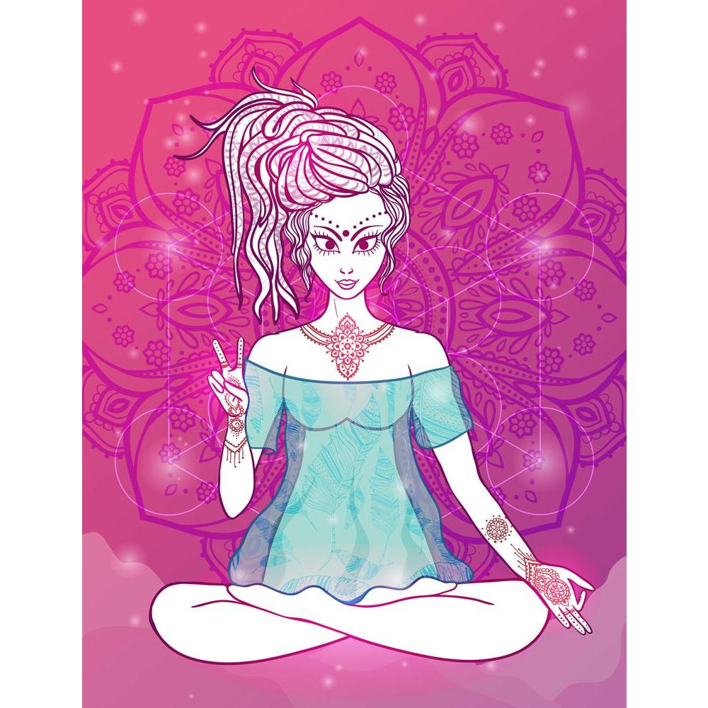 ArtzFolio Girl Meditates in the Lotus Position D2 Unframed Premium Canvas Painting-Paintings Unframed Premium-AZ5007064ART_UN_RF_R-0-Image Code 5007064 Vishnu Image Folio Pvt Ltd, IC 5007064, ArtzFolio, Paintings Unframed Premium, Religious, Traditional, Digital Art, girl, meditates, in, the, lotus, position, d2, unframed, premium, canvas, painting, large, size, print, wall, for, living, room, without, frame, decorative, poster, art, pitaara, box, drawing, photography, amazonbasics, big, kids, designer, off