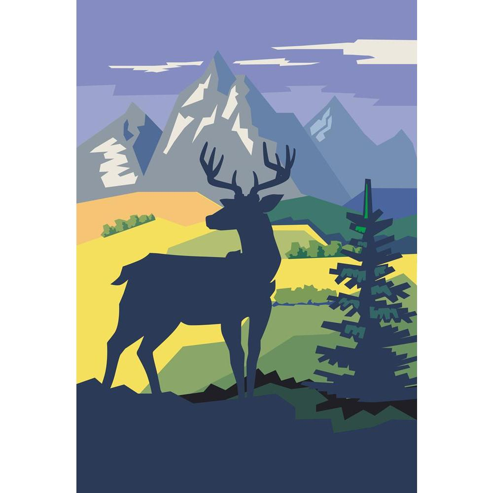 ArtzFolio Vector Deer In Forest On Nature Background Unframed Premium Canvas Painting-Paintings Unframed Premium-AZ5007110ART_UN_RF_R-0-Image Code 5007110 Vishnu Image Folio Pvt Ltd, IC 5007110, ArtzFolio, Paintings Unframed Premium, Animals, Landscapes, Digital Art, vector, deer, in, forest, on, nature, background, unframed, premium, canvas, painting, large, size, print, wall, for, living, room, without, frame, decorative, poster, art, pitaara, box, drawing, photography, amazonbasics, big, kids, designer,