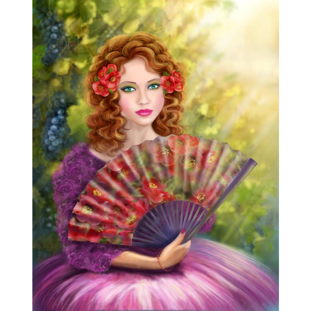 ArtzFolio Girl With A Fan Against A Grape Garden Unframed Premium Canvas Painting-Paintings Unframed Premium-AZ5007140ART_UN_RF_R-0-Image Code 5007140 Vishnu Image Folio Pvt Ltd, IC 5007140, ArtzFolio, Paintings Unframed Premium, Fantasy, Portraits, Digital Art, girl, with, a, fan, against, grape, garden, unframed, premium, canvas, painting, large, size, print, wall, for, living, room, without, frame, decorative, poster, art, pitaara, box, drawing, photography, amazonbasics, big, kids, designer, office, rec