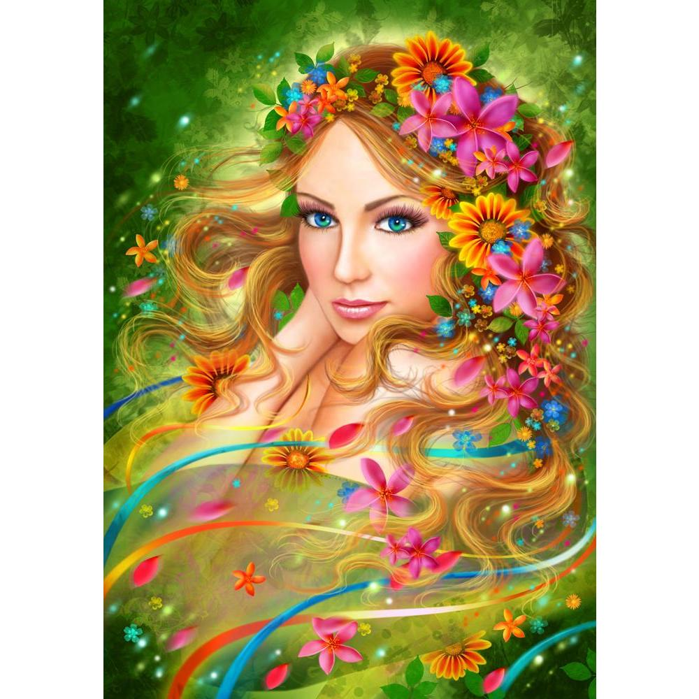 ArtzFolio Fantasy Spring Fairy Woman with Summer Flowers Unframed Premium Canvas Painting-Paintings Unframed Premium-AZ5007142ART_UN_RF_R-0-Image Code 5007142 Vishnu Image Folio Pvt Ltd, IC 5007142, ArtzFolio, Paintings Unframed Premium, Fantasy, Floral, Portraits, Digital Art, spring, fairy, woman, with, summer, flowers, unframed, premium, canvas, painting, large, size, print, wall, for, living, room, without, frame, decorative, poster, art, pitaara, box, drawing, photography, amazonbasics, big, kids, desi
