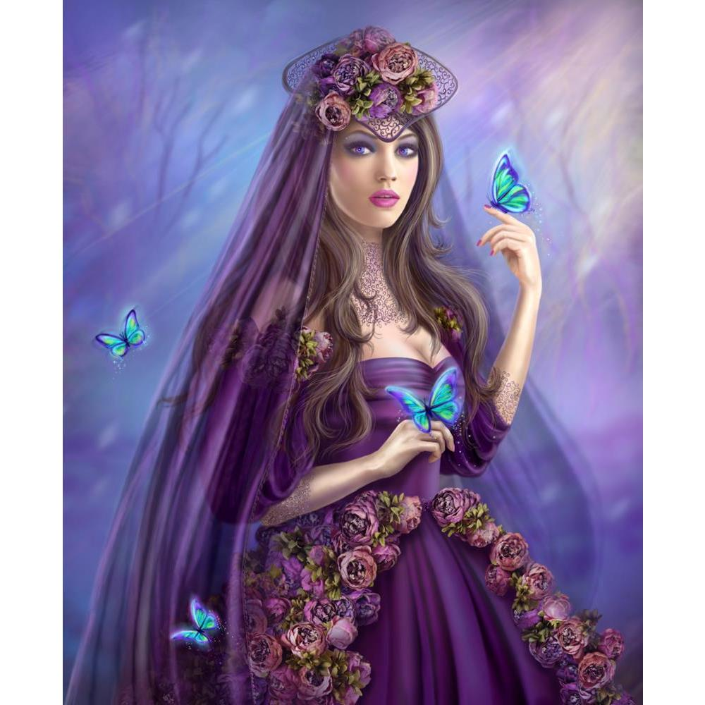 ArtzFolio Fantasy Woman Fairy Blue Butterflies Unframed Premium Canvas Painting-Paintings Unframed Premium-AZ5007147ART_UN_RF_R-0-Image Code 5007147 Vishnu Image Folio Pvt Ltd, IC 5007147, ArtzFolio, Paintings Unframed Premium, Fantasy, Floral, Portraits, Digital Art, woman, fairy, blue, butterflies, unframed, premium, canvas, painting, large, size, print, wall, for, living, room, without, frame, decorative, poster, art, pitaara, box, drawing, photography, amazonbasics, big, kids, designer, office, receptio