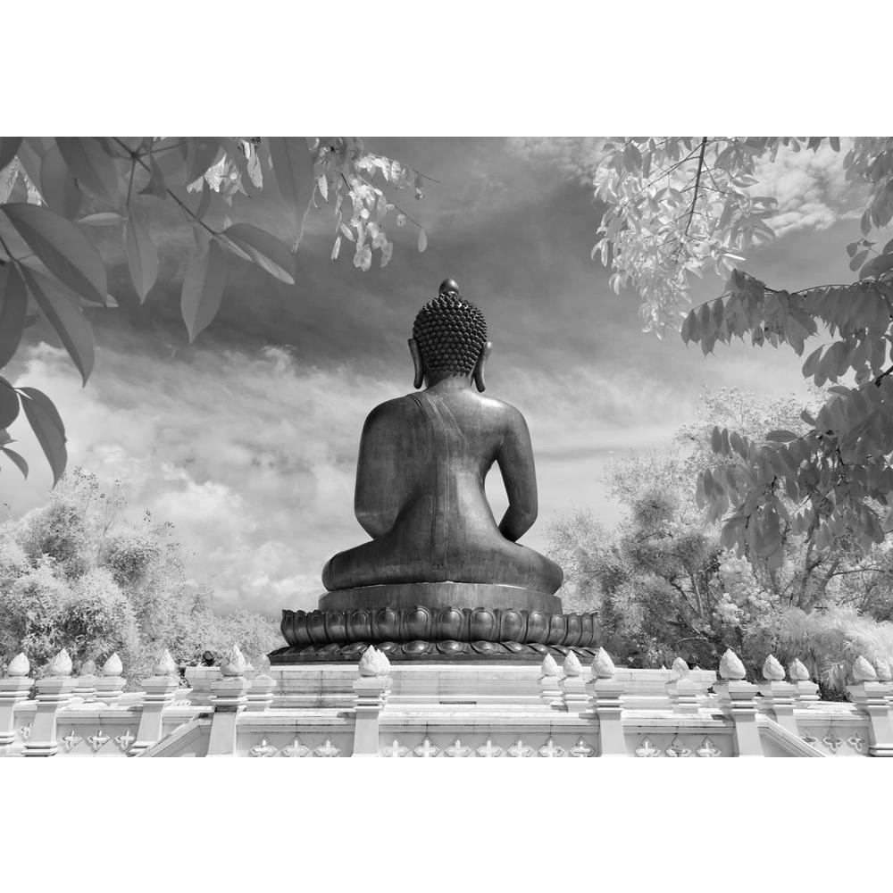ArtzFolio Black White Back View of Lord Buddha, Thailand Unframed Premium Canvas Painting-Paintings Unframed Premium-AZ5007149ART_UN_RF_R-0-Image Code 5007149 Vishnu Image Folio Pvt Ltd, IC 5007149, ArtzFolio, Paintings Unframed Premium, Places, Religious, Photography, black, white, back, view, of, lord, buddha, thailand, unframed, premium, canvas, painting, large, size, print, wall, for, living, room, without, frame, decorative, poster, art, pitaara, box, drawing, amazonbasics, big, kids, designer, office,