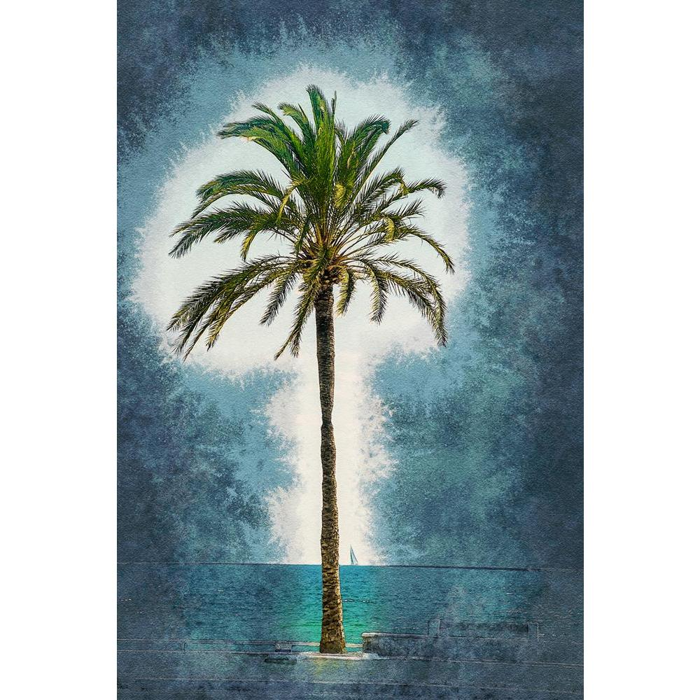 ArtzFolio Palm Trees Along Coast In Palma De Mallorca, Spain D6 Unframed Premium Canvas Painting-Paintings Unframed Premium-AZ5007167ART_UN_RF_R-0-Image Code 5007167 Vishnu Image Folio Pvt Ltd, IC 5007167, ArtzFolio, Paintings Unframed Premium, Landscapes, Vintage, Fine Art Reprint, palm, trees, along, coast, in, palma, de, mallorca, spain, d6, unframed, premium, canvas, painting, large, size, print, wall, for, living, room, without, frame, decorative, poster, art, pitaara, box, drawing, photography, amazon