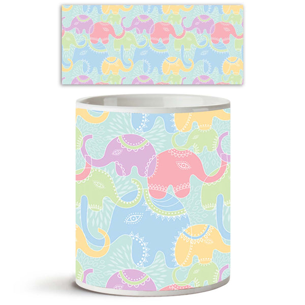 ArtzFolio Elephants D1 Ceramic Coffee Tea Mug Inside White-Coffee Mugs-AZKIT8278723MUG_L-Image Code 5007201 Vishnu Image Folio Pvt Ltd, IC 5007201, ArtzFolio, Coffee Mugs, Animals, Kids, Digital Art, elephants, d1, ceramic, coffee, tea, mug, inside, white, seamless, pattern, elephant, coffee mugs with logo, promotional mugs, bulk coffee mug, office mugs, amazonbasics, custom coffee mugs, custom ceramic mugs, 11ounce ceramic coffee mug, coffee cup gift, tea mug, promotional coffee mugs, custom printed mugs,