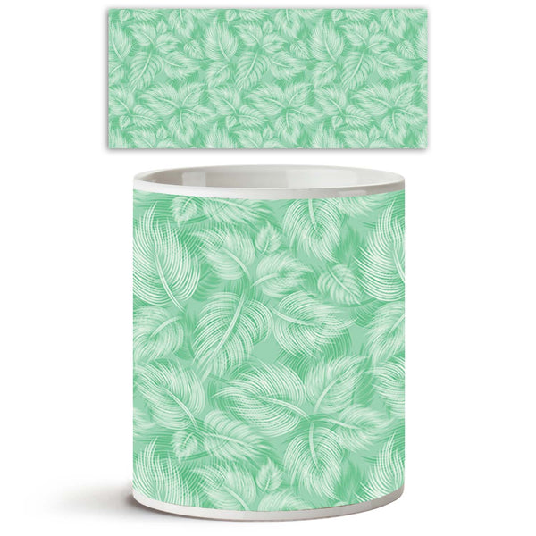 ArtzFolio Spring Leaves D1 Ceramic Coffee Tea Mug Inside White-Coffee Mugs-AZKIT9077813MUG_L-Image Code 5007203 Vishnu Image Folio Pvt Ltd, IC 5007203, ArtzFolio, Coffee Mugs, Floral, Digital Art, spring, leaves, d1, ceramic, coffee, tea, mug, inside, white, seamless, pattern, green, light, leaf, background, coffee mugs with logo, promotional mugs, bulk coffee mug, office mugs, amazonbasics, custom coffee mugs, custom ceramic mugs, 11ounce ceramic coffee mug, coffee cup gift, tea mug, promotional coffee mug