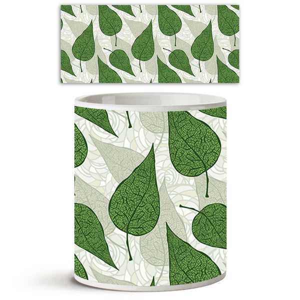 ArtzFolio Hand Drawn Green Leafs Ceramic Coffee Tea Mug Inside White-Coffee Mugs-AZKIT9933233MUG_L-Image Code 5007211 Vishnu Image Folio Pvt Ltd, IC 5007211, ArtzFolio, Coffee Mugs, Floral, Digital Art, hand, drawn, green, leafs, ceramic, coffee, tea, mug, inside, white, background, seamless, coffee mugs with logo, promotional mugs, bulk coffee mug, office mugs, amazonbasics, custom coffee mugs, custom ceramic mugs, 11ounce ceramic coffee mug, coffee cup gift, tea mug, promotional coffee mugs, custom printe