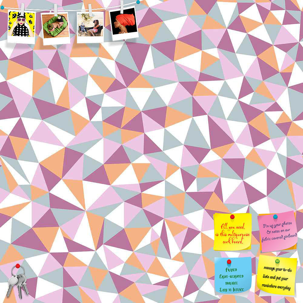 ArtzFolio Mosaic Triangles Printed Bulletin Board Notice Pin Board Soft Board | Frameless-Bulletin Boards Frameless-AZSAO11662754BLB_FL_L-Image Code 5007228 Vishnu Image Folio Pvt Ltd, IC 5007228, ArtzFolio, Bulletin Boards Frameless, Abstract, Digital Art, mosaic, triangles, printed, bulletin, board, notice, pin, soft, frameless, seamless, texture, endless, pattern, pin up board, push pin board, extra large cork board, big pin board, notice board, small bulletin board, cork board, wall notice board, giant