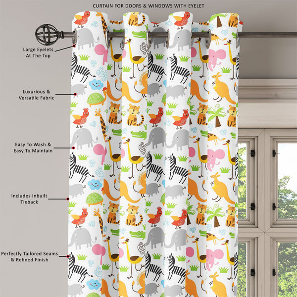 ArtzFolio Cute Animals Door, Window & Room Curtain-Room Curtains-AZ5007255CUR_RM_RF_R-SP-Image Code 5007255 Vishnu Image Folio Pvt Ltd, IC 5007255, ArtzFolio, Room Curtains, Animals, Kids, Digital Art, cute, door, window, room, curtain, eyelets, tie, back, silk, fabric, width, 3feet, (36inch), seamless, pattern, room curtain, valance curtain, bedroom drapes, drapes valance, wall curtain, office curtain, grommet curtain, kitchen curtain, pitaara box, window curtain, blackout drape, grommet drapes, window pan
