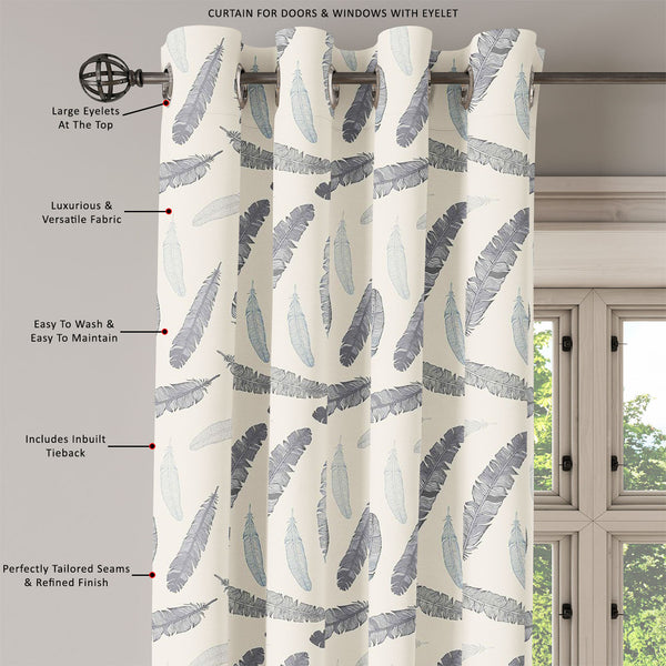 ArtzFolio Feathery Door, Window & Room Curtain-Room Curtains-AZ5007284CUR_RM_RF_R-SP-Image Code 5007284 Vishnu Image Folio Pvt Ltd, IC 5007284, ArtzFolio, Room Curtains, Birds, Kids, Digital Art, feathery, door, window, room, curtain, eyelets, tie, back, silk, fabric, width, 3feet, (36inch), vintage, feather, seamless, background, hand, drawn, illustration, room curtain, valance curtain, bedroom drapes, drapes valance, wall curtain, office curtain, grommet curtain, kitchen curtain, pitaara box, window curta