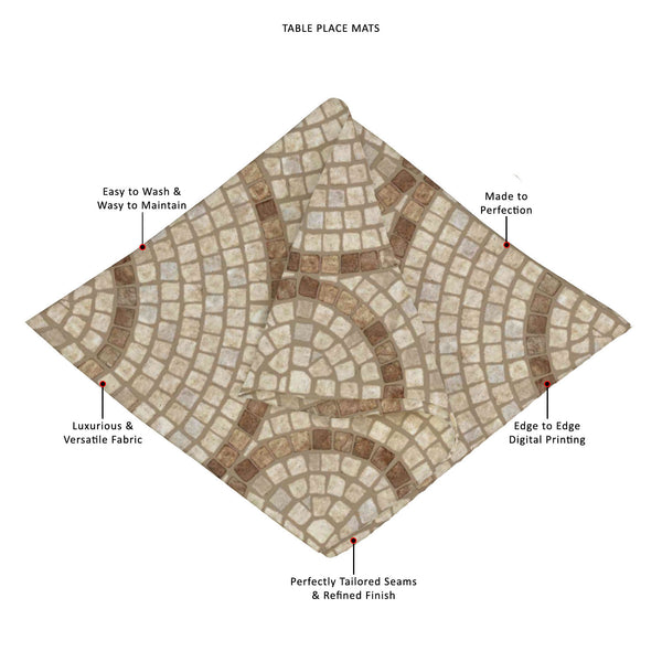 ArtzFolio Brown Mosaic Table Mat Placemat-Table Place Mats Fabric-AZKIT15121149MAT_TB_L-Image Code 5007295 Vishnu Image Folio Pvt Ltd, IC 5007295, ArtzFolio, Table Place Mats Fabric, Abstract, Digital Art, brown, mosaic, table, mat, placemat, canvas, fabric, marble-stone, texture, high, res, placemats, large table mats, dinner mats, best placemats, dinner table placemats, table mats, dining placemats, dining mats, extra large placemats, cute placemats, table placemats, contemporary table mats, placement mat