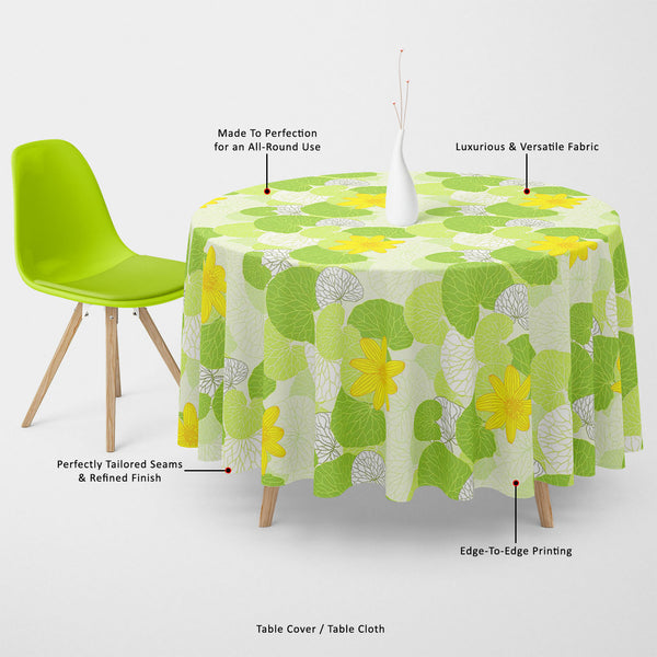 ArtzFolio Green Leaves Table Cloth Cover-Table Covers-AZ5007305CVR_TB_RF_R-SP-Image Code 5007305 Vishnu Image Folio Pvt Ltd, IC 5007305, ArtzFolio, Table Covers, Floral, Digital Art, green, leaves, table, cloth, cover, canvas, fabric, fresh, background, illustration, table cover, center table cover, teapoy cover, checkered tablecloth, restaurant tablecloth, tablecloth, dining table cover 6 seater, linen tablecloth, fitted tablecloths, velvet tablecloth, dining table cover, dining table cover plastic, square