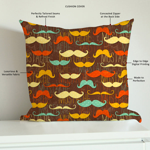 ArtzFolio Vintage Mustache D1 Cushion Cover Throw Pillow-Cushion Covers-AZHFR17311365CUS_CV_L-Image Code 5007335 Vishnu Image Folio Pvt Ltd, IC 5007335, ArtzFolio, Cushion Covers, Adult, Fashion, Digital Art, vintage, mustache, d1, cushion, cover, throw, pillow, canvas, fabric, seamless, pattern, style, sofa throws, single throw pillow, zippered throw pillow cover, satin pillow cover, throw pillow, cushion cover only, cushion cover, pillow cover for sofa, pitaara box, throw cushion, kids cushion cover, squa