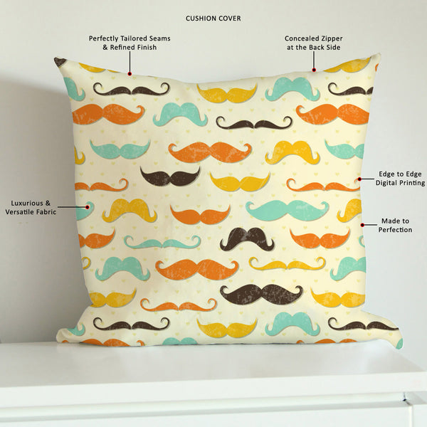 ArtzFolio Vintage Mustache D2 Cushion Cover Throw Pillow-Cushion Covers-AZHFR17311366CUS_CV_L-Image Code 5007336 Vishnu Image Folio Pvt Ltd, IC 5007336, ArtzFolio, Cushion Covers, Adult, Fashion, Digital Art, vintage, mustache, d2, cushion, cover, throw, pillow, canvas, fabric, seamless, pattern, style, sofa throws, single throw pillow, zippered throw pillow cover, satin pillow cover, throw pillow, cushion cover only, cushion cover, pillow cover for sofa, pitaara box, throw cushion, kids cushion cover, squa