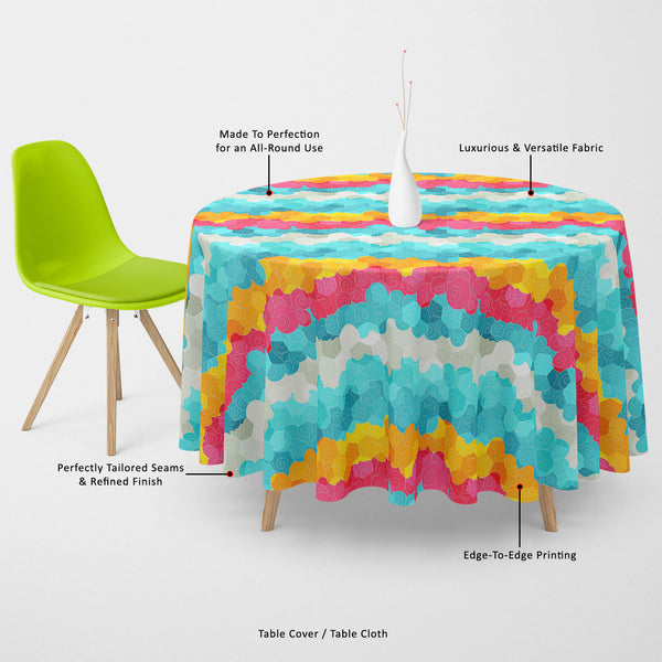ArtzFolio Color Circle Table Cloth Cover-Table Covers-AZ5007342CVR_TB_RF_R-SP-Image Code 5007342 Vishnu Image Folio Pvt Ltd, IC 5007342, ArtzFolio, Table Covers, Abstract, Digital Art, color, circle, table, cloth, cover, canvas, fabric, seamless, pattern, table cover, center table cover, teapoy cover, checkered tablecloth, restaurant tablecloth, tablecloth, dining table cover 6 seater, linen tablecloth, fitted tablecloths, velvet tablecloth, dining table cover, dining table cover plastic, square tablecloth,