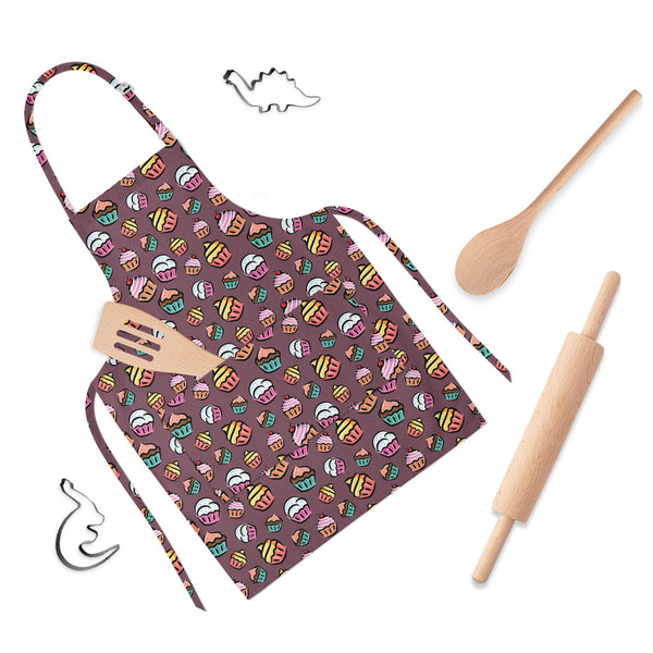 ArtzFolio Cupcake D1 Apron | Adjustable, Free Size & Waist Tiebacks-Aprons Neck to Knee-AZ5007355APR_RF_R-SP-Image Code 5007355 Vishnu Image Folio Pvt Ltd, IC 5007355, ArtzFolio, Aprons Neck to Knee, Food & Beverage, Kids, Digital Art, cupcake, d1, full-length, apron, poly-cotton, fabric, adjustable, neck, buckle, waist, tiebacks, seamless, pattern, childrens aprons, waterproof kitchen apron, baking apron, full apron, kitchen apron, cotton apron, bib apron, housekeeping apron, kids chef apron, kids apron, m