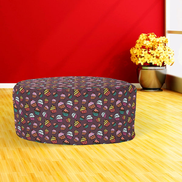 ArtzFolio Cupcake D1 Footstool Footrest Puffy Pouffe Ottoman Bean Bag | Canvas Fabric-Footstools-AZ5007355FST_RF_R-SP-Image Code 5007355 Vishnu Image Folio Pvt Ltd, IC 5007355, ArtzFolio, Footstools, Food & Beverage, Kids, Digital Art, cupcake, d1, footstool, footrest, puffy, pouffe, ottoman, bean, bag, canvas, fabric, seamless, pattern, floor pouf, long ottoman, square pouf, rattan ottoman, poufs and ottomans, rectangle ottoman, foldable ottoman, round footstool, pouf, round pouf, bean bag footrest, indian