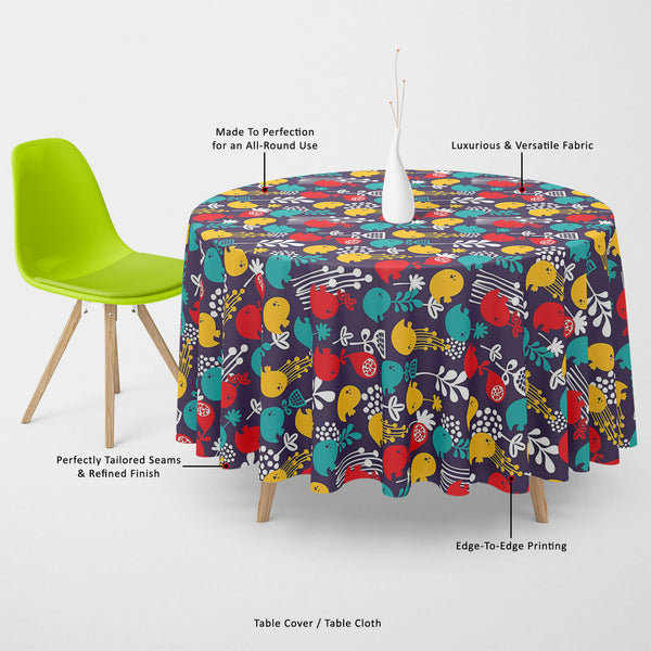 ArtzFolio Cartoon Birds Table Cloth Cover-Table Covers-AZ5007378CVR_TB_RF_R-SP-Image Code 5007378 Vishnu Image Folio Pvt Ltd, IC 5007378, ArtzFolio, Table Covers, Birds, Floral, Kids, Digital Art, cartoon, table, cloth, cover, canvas, fabric, seamless, pattern, colorful, table cover, center table cover, teapoy cover, checkered tablecloth, restaurant tablecloth, tablecloth, dining table cover 6 seater, linen tablecloth, fitted tablecloths, velvet tablecloth, dining table cover, dining table cover plastic, sq