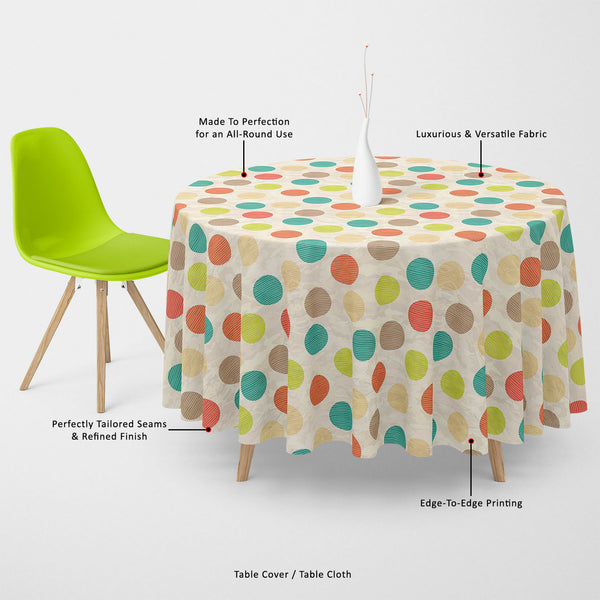 ArtzFolio Retro Circles Table Cloth Cover-Table Covers-AZ5007382CVR_TB_RF_R-SP-Image Code 5007382 Vishnu Image Folio Pvt Ltd, IC 5007382, ArtzFolio, Table Covers, Abstract, Digital Art, retro, circles, table, cloth, cover, canvas, fabric, seamless, pattern, table cover, center table cover, teapoy cover, checkered tablecloth, restaurant tablecloth, tablecloth, dining table cover 6 seater, linen tablecloth, fitted tablecloths, velvet tablecloth, dining table cover, dining table cover plastic, square tableclot