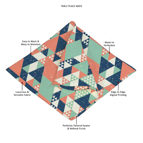 ArtzFolio Blue Orange Green Triangles Table Mat Placemat-Table Place Mats Fabric-AZKIT29829044MAT_TB_L-Image Code 5007521 Vishnu Image Folio Pvt Ltd, IC 5007521, ArtzFolio, Table Place Mats Fabric, Abstract, Digital Art, blue, orange, green, triangles, table, mat, placemat, canvas, fabric, geometric, background, placemats, large table mats, dinner mats, best placemats, dinner table placemats, table mats, dining placemats, dining mats, extra large placemats, cute placemats, table placemats, contemporary tabl