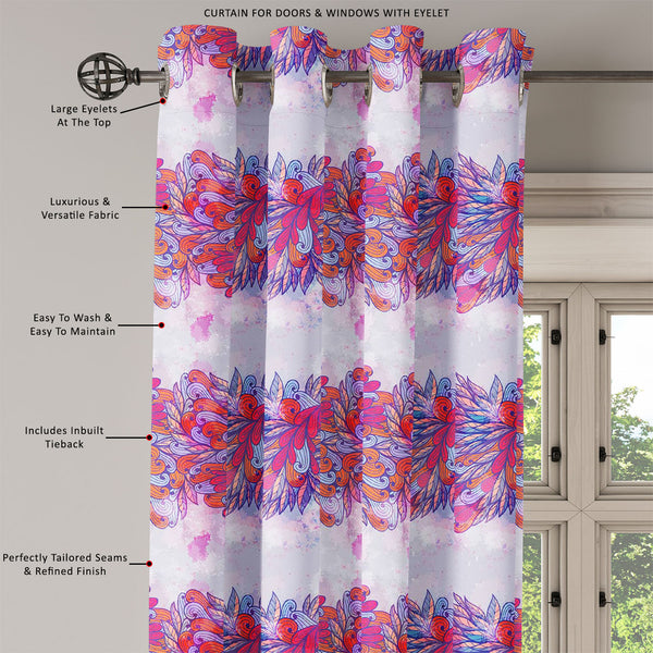 ArtzFolio Pink & Violet Element Door, Window & Room Curtain-Room Curtains-AZ5007591CUR_RM_RF_R-SP-Image Code 5007591 Vishnu Image Folio Pvt Ltd, IC 5007591, ArtzFolio, Room Curtains, Abstract, Traditional, Digital Art, pink, violet, element, door, window, room, curtain, eyelets, tie, back, silk, fabric, width, 3feet, (36inch), hand, drawn, seamless, invitation, card, design, floral, elements, eps10, room curtain, valance curtain, bedroom drapes, drapes valance, wall curtain, office curtain, grommet curtain,