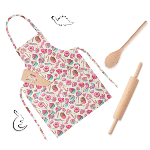 ArtzFolio Yummy Lollipop Candy Apron | Adjustable, Free Size & Waist Tiebacks-Aprons Neck to Knee-AZ5007617APR_RF_R-SP-Image Code 5007617 Vishnu Image Folio Pvt Ltd, IC 5007617, ArtzFolio, Aprons Neck to Knee, Kids, Digital Art, yummy, lollipop, candy, full-length, apron, poly-cotton, fabric, adjustable, neck, buckle, waist, tiebacks, colorful, sweet, macaroon, cupcake, donut, seamless, pattern, yellow, childrens aprons, waterproof kitchen apron, baking apron, full apron, kitchen apron, cotton apron, bib ap