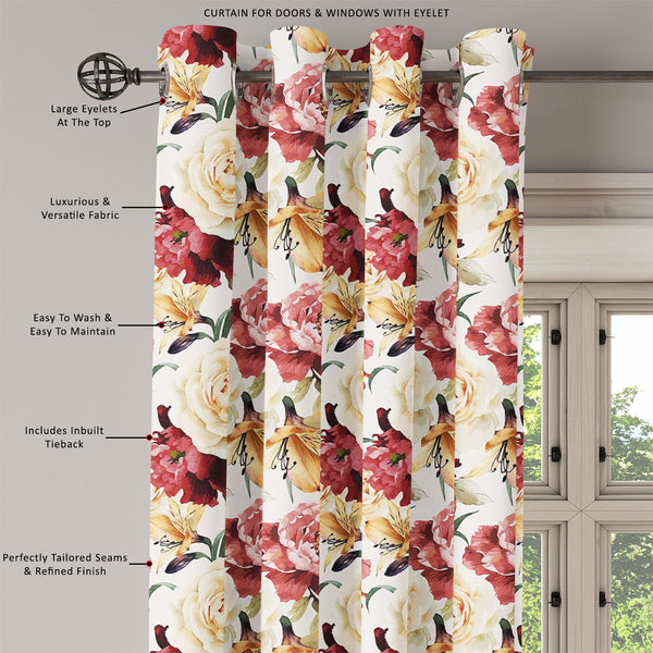 ArtzFolio Roses D2 Door, Window & Room Curtain-Room Curtains-AZ5007667CUR_RM_RF_R-SP-Image Code 5007667 Vishnu Image Folio Pvt Ltd, IC 5007667, ArtzFolio, Room Curtains, Floral, Digital Art, roses, d2, door, window, room, curtain, eyelets, tie, back, silk, fabric, width, 3feet, (36inch), seamless, pattern, watercolor, vector, illustration, room curtain, valance curtain, bedroom drapes, drapes valance, wall curtain, office curtain, grommet curtain, kitchen curtain, pitaara box, window curtain, blackout drape