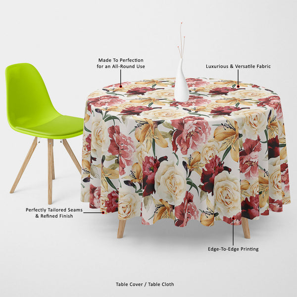 ArtzFolio Roses D2 Table Cloth Cover-Table Covers-AZ5007667CVR_TB_RF_R-SP-Image Code 5007667 Vishnu Image Folio Pvt Ltd, IC 5007667, ArtzFolio, Table Covers, Floral, Digital Art, roses, d2, table, cloth, cover, canvas, fabric, seamless, pattern, watercolor, vector, illustration, table cover, center table cover, teapoy cover, checkered tablecloth, restaurant tablecloth, tablecloth, dining table cover 6 seater, linen tablecloth, fitted tablecloths, velvet tablecloth, dining table cover, dining table cover pla