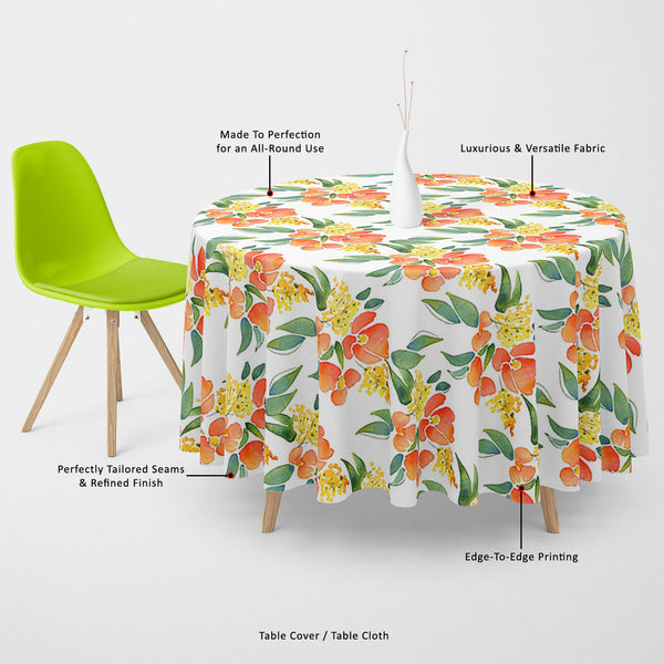 ArtzFolio Watercolor Leaves & Flowers Table Cloth Cover-Table Covers-AZ5007685CVR_TB_RF_R-SP-Image Code 5007685 Vishnu Image Folio Pvt Ltd, IC 5007685, ArtzFolio, Table Covers, Floral, Digital Art, watercolor, leaves, flowers, table, cloth, cover, canvas, fabric, illustration, seamless, pattern, 5, table cover, center table cover, teapoy cover, checkered tablecloth, restaurant tablecloth, tablecloth, dining table cover 6 seater, linen tablecloth, fitted tablecloths, velvet tablecloth, dining table cover, di