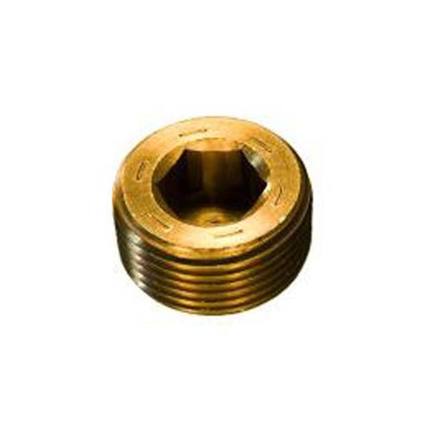 BRASS THREADED PRESSURE PLUG R1/4