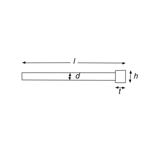 UN-NITRIDED STRAIGHT SOFT EJECTOR PIN 14 dia x 250mm