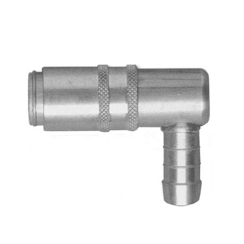 USA WATER FITTING VALVED 90° COUPLING 1/4