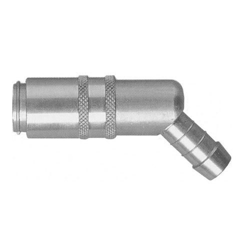 USA WATER FITTING VALVED 45° COUPLING 1/4