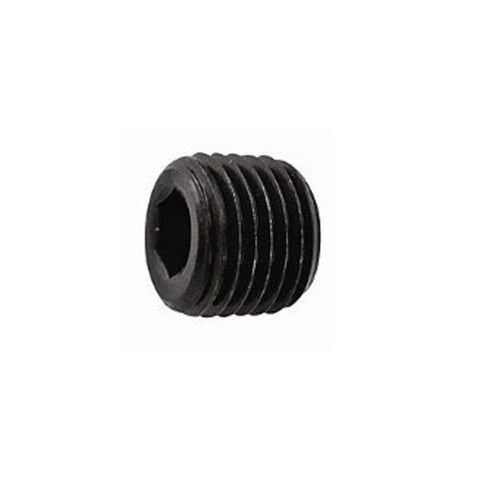 STEEL BLACK THREADED PRESSURE PLUG R1/2