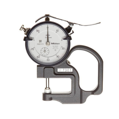 MITUTOYO DIAL THICKNESS GAUGE .01 x 10 x 30mm
