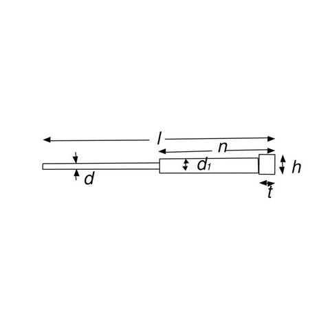 NITRIDED STEPPED EJECTOR PIN 1.0 dia x 100mm, N=25