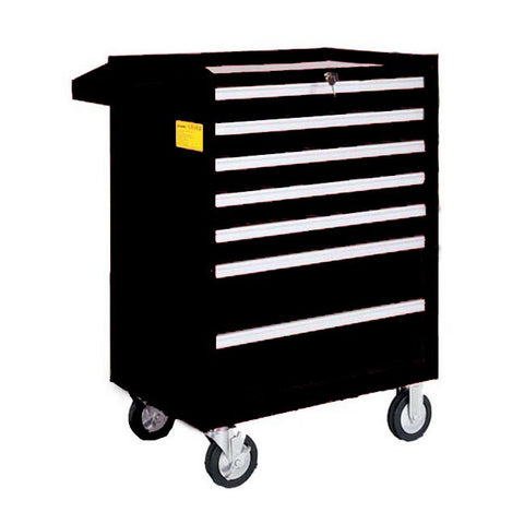 TOOL CHEST 7 x DRAWER BLACK ROLL CABINET