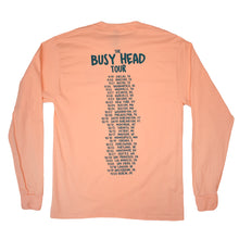 Load image into Gallery viewer, Noah Kahan Tour Long Sleeve Tee - Peach