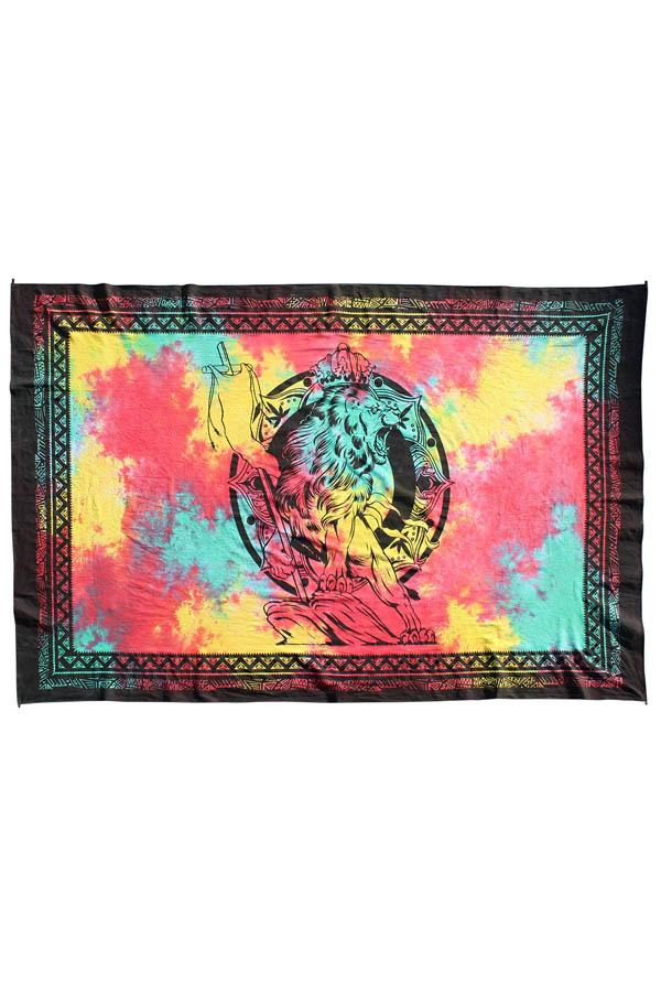 Lion of Judah Rasta Tie-Dye Tapestry