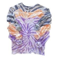 Load image into Gallery viewer, Tie Dye Swirl Crop Sweatshirt