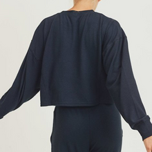 Load image into Gallery viewer, All-over Ribbed Cropped Pullover
