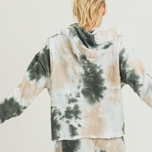 Load image into Gallery viewer, Tie Dye Jacquard Cropped Pullover