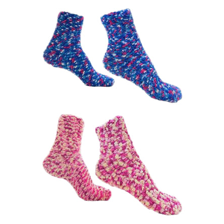 Colorful Soft and Warm Fuzzy Socks Magenta 2 pack