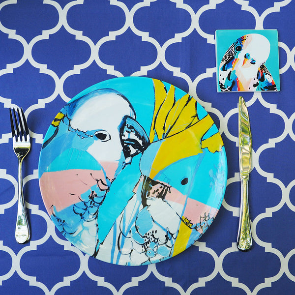 MELAMINE PLATE SINGLE- COCKATOO